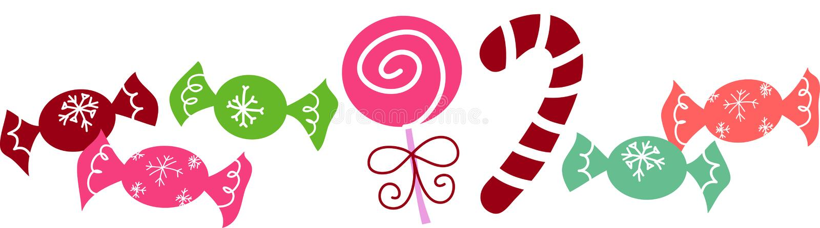 Christmas candies. Contemporary illustration of Christmas candies. Vector image royalty free illustration