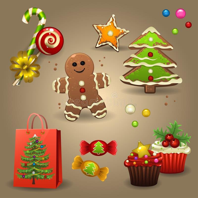 Christmas candies stock illustration