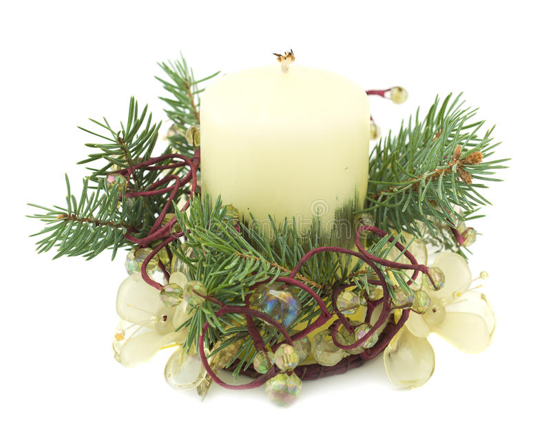 Download Christmas candle stock photo. Image of green, luxury - 12050082
