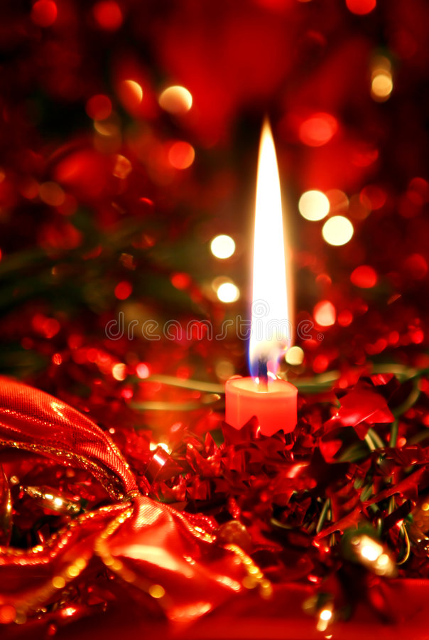 Free Christmas Candle Royalty Free Stock Photos - 2706308