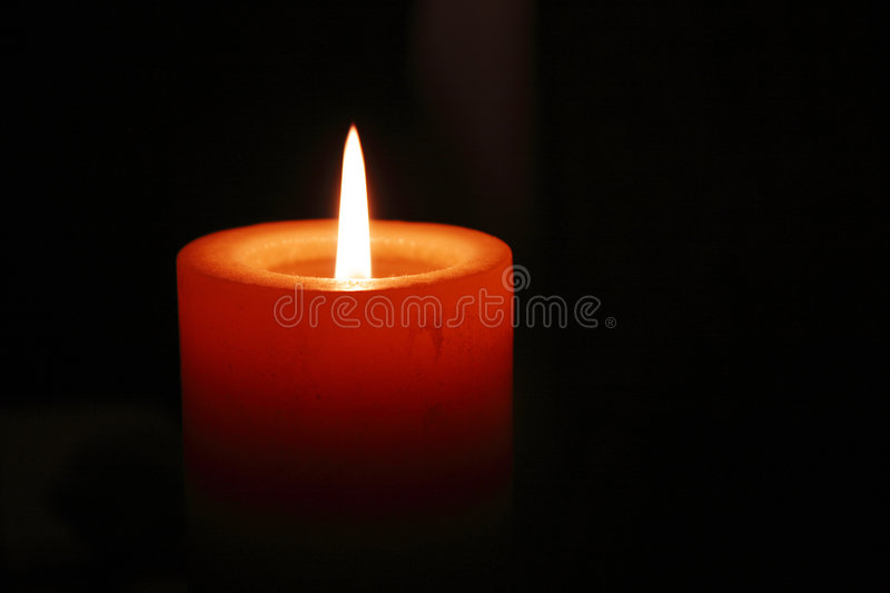 A Christmas Candle royalty free stock images