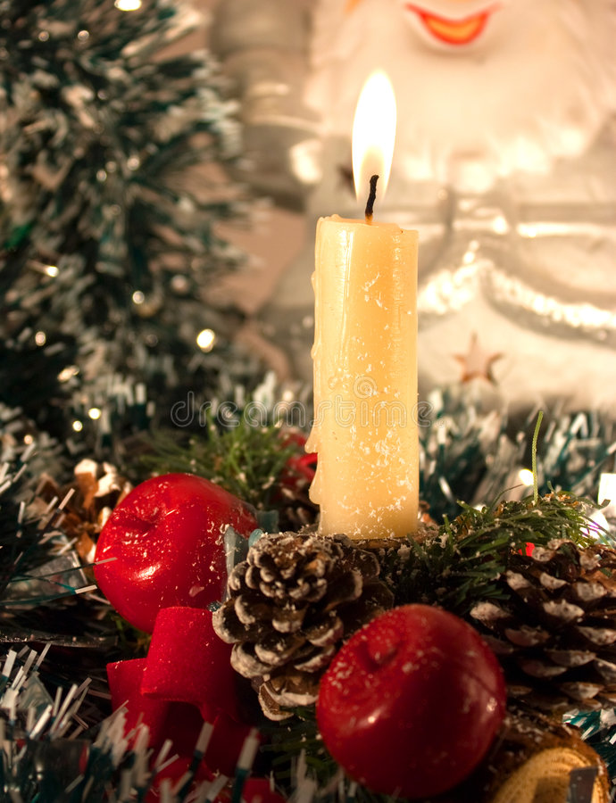 Free Christmas Candle Stock Photography - 7054932