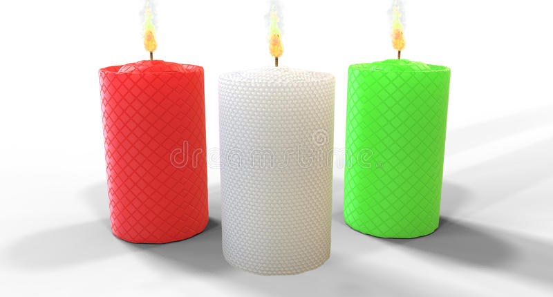 CHRISTMAS CANDLE WITHOUT BACKGROUND royalty free stock photo