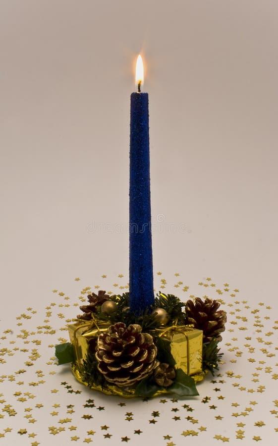 Free Christmas Candle Burning Royalty Free Stock Photos - 7239598