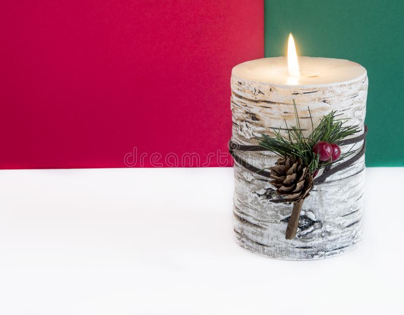 Christmas candle royalty free stock photos