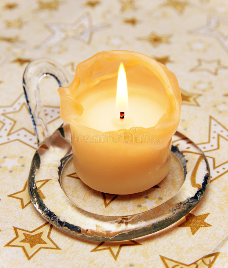 Free Christmas Candle Close-up Royalty Free Stock Images - 17006859