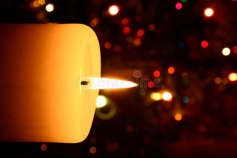Download Christmas candle close-up stock image. Image of darkness - 430849