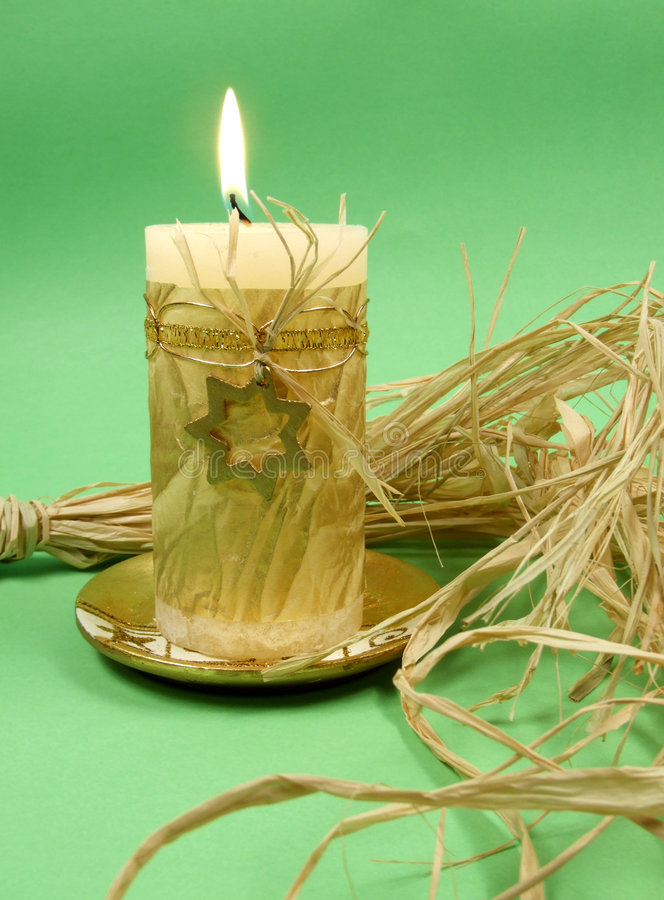 Christmas candle decoration royalty free stock photos