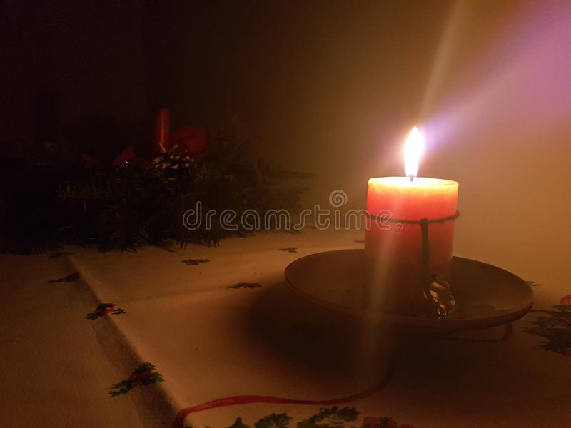 Christmas candle 4:3 royalty free stock image