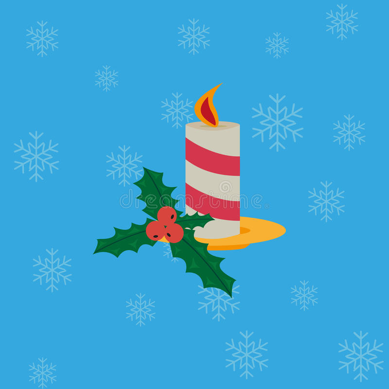 Christmas candle stock illustration