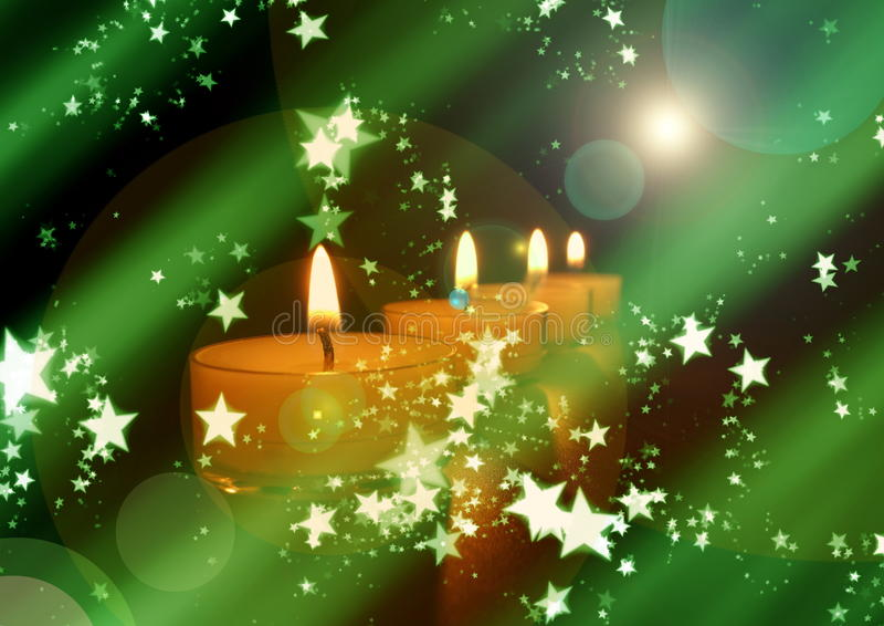 Christmas candle with stars royalty free stock photos