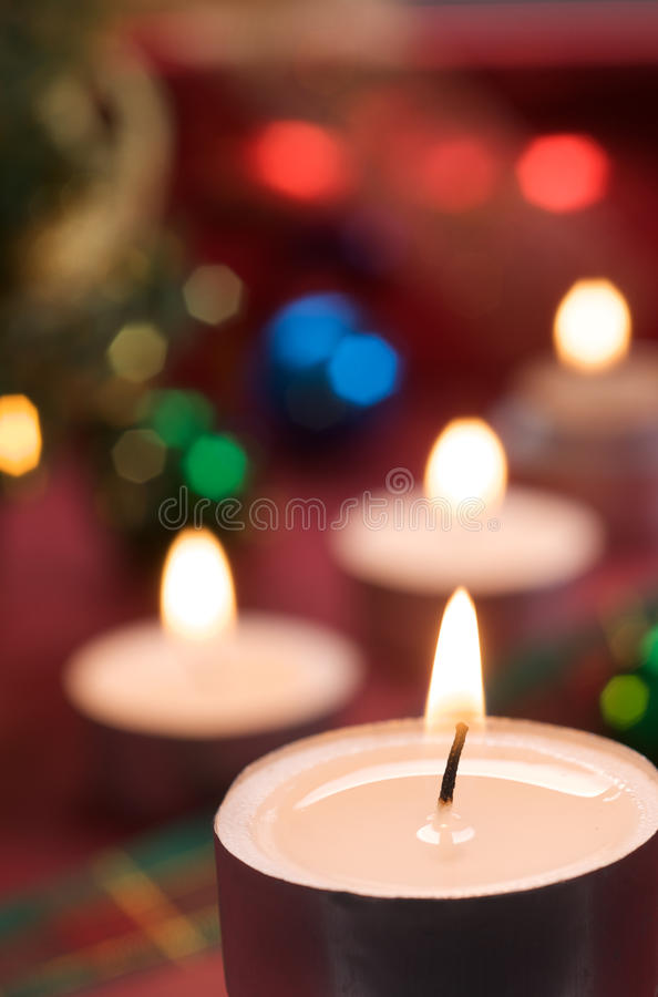 Christmas With Candlelight Stock Images