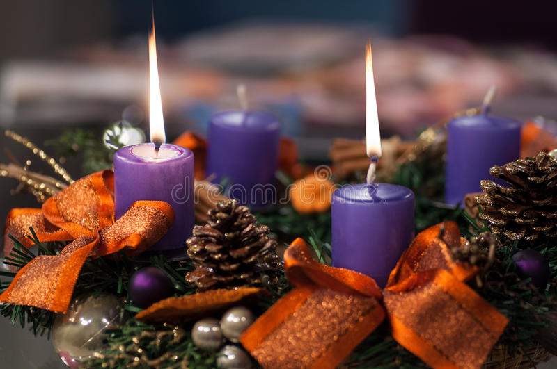 Download Christmas candles stock image. Image of light, decor - 26977823