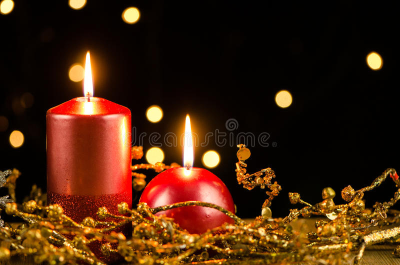 Download Christmas candles stock photo. Image of candles, candle - 28003622