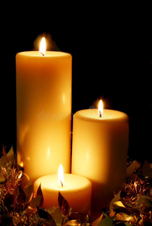 Download Christmas Candles stock photo. Image of christmas, three - 2831738