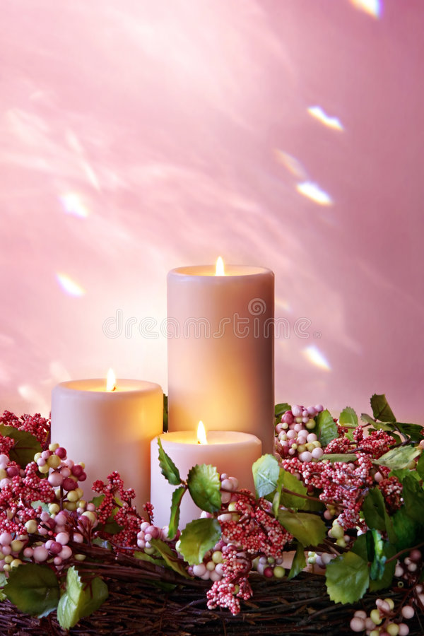 Download Christmas Candles stock photo. Image of yuletide, floral - 5874052