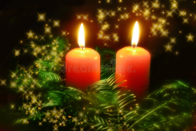 Download Christmas candles stock photo. Image of still, candles - 6444832