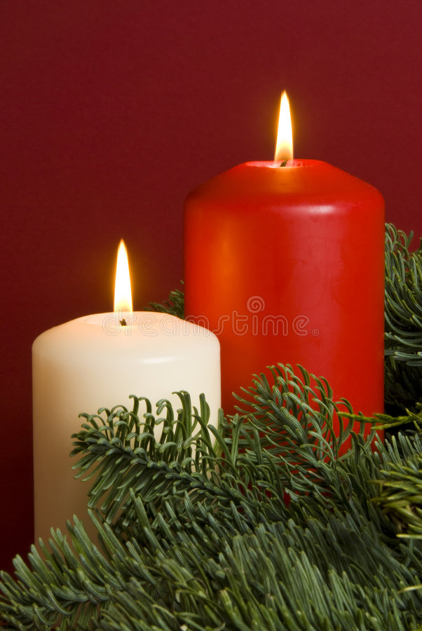 Download Christmas Candles stock image. Image of white, warmth - 7247165