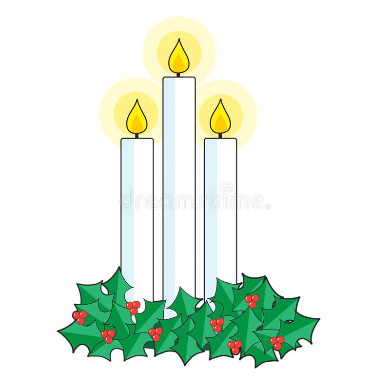 Christmas Candles vector illustration