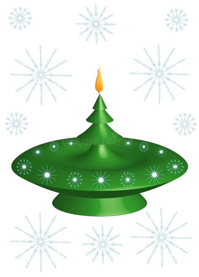 Christmas candlestick stock illustration