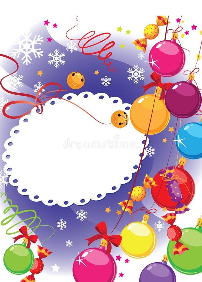 Download Christmas Candy And Balls Postcard Stock Vector - Image: 22173479