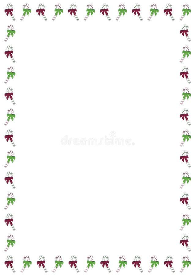 Christmas Candy Cane Border vector illustration