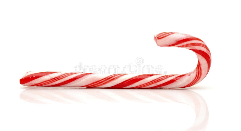 Christmas candy cane isolated on white royalty free stock photos