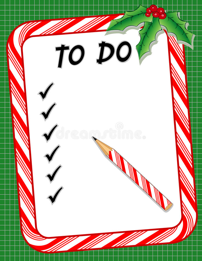 Christmas Candy Cane List Royalty Free Stock Photography - Image ...
