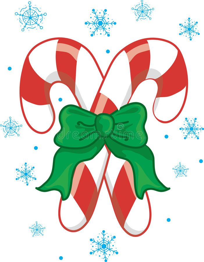 Christmas Candy Canes stock illustration