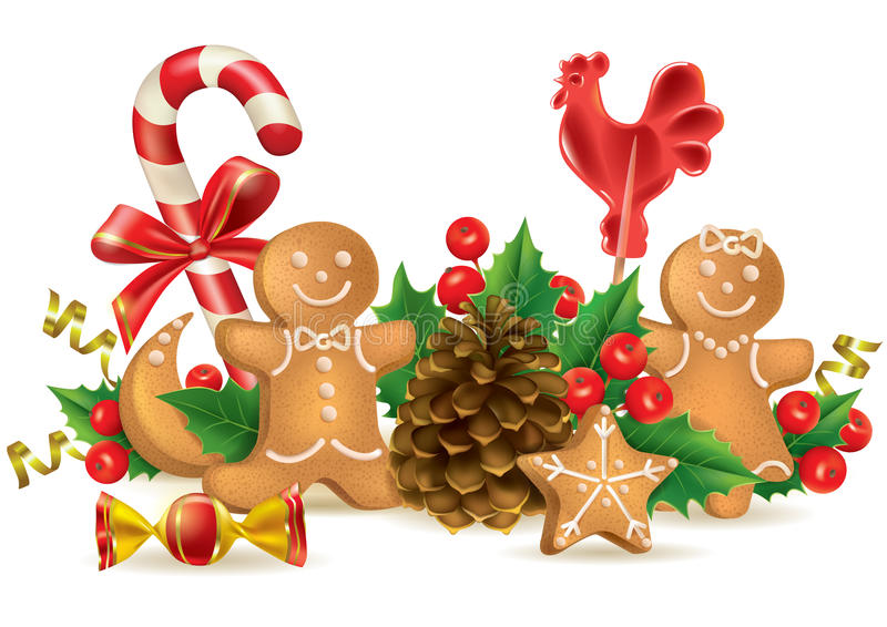 Christmas Candy And Decorations Stock Vector ...