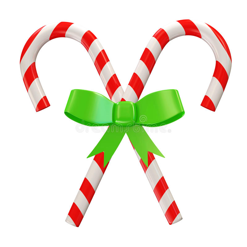 Download Christmas Candy With Green Bow  On White B Stock Illustration - Image: 22658457