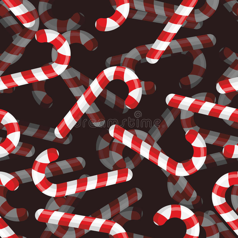 Christmas candy seamless pattern. 3D background Striped candy. stock illustration