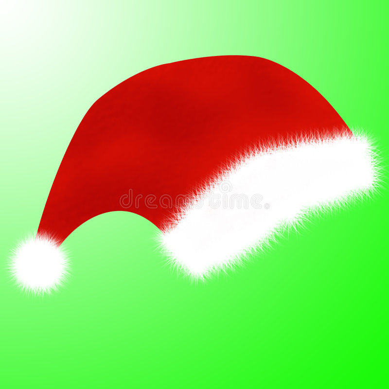 Christmas cap stock photo