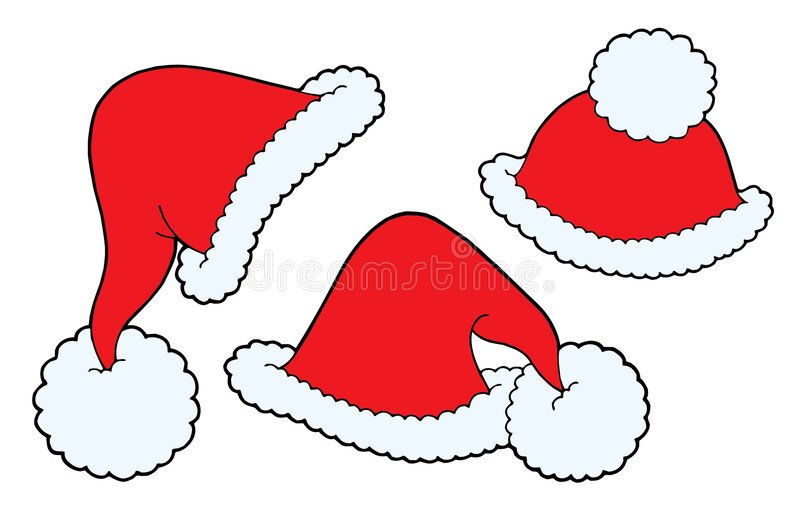 Christmas caps vector stock illustration