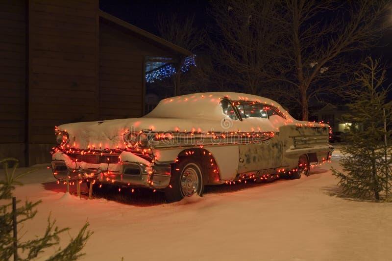 Christmas car 1 stock photo
