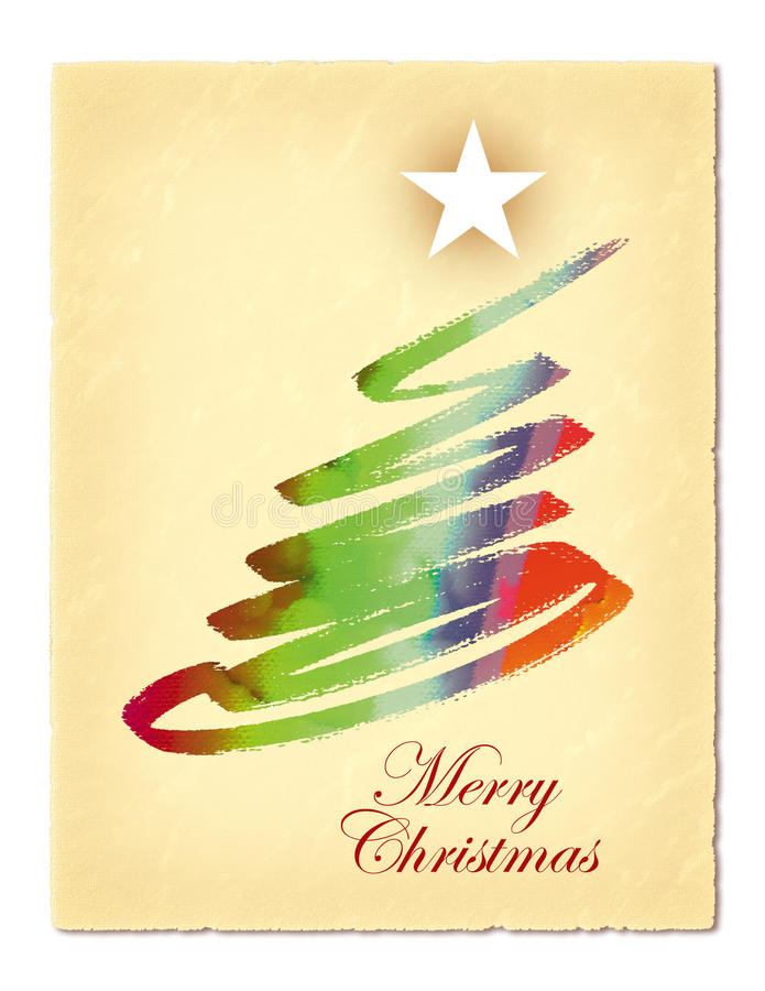 Christmas Card. This is a Christmas card design with an abstract tree and a star royalty free illustration