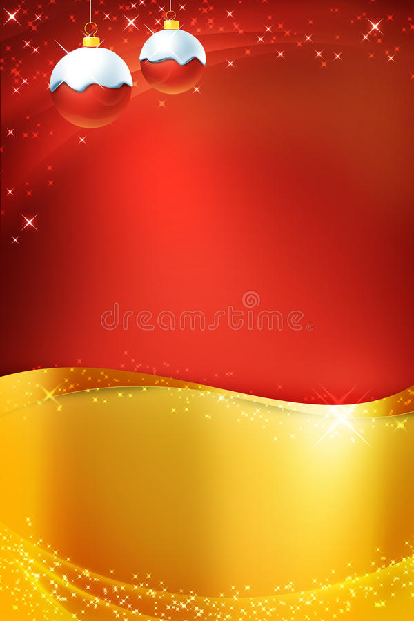 Christmas card. Decorated background for christmas card stock illustration