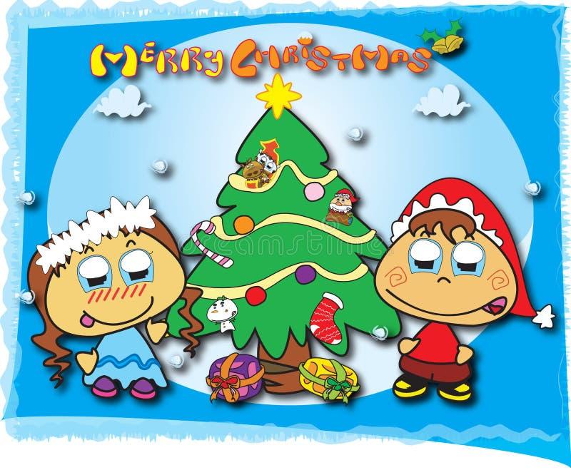 Download Christmas Card stock illustration. Image of kids, helper - 12195766