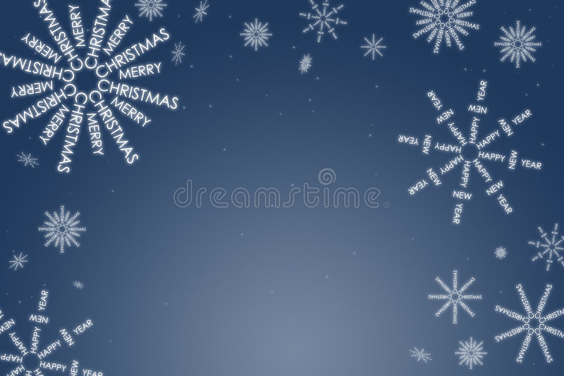Christmas card. With snow flakes royalty free illustration