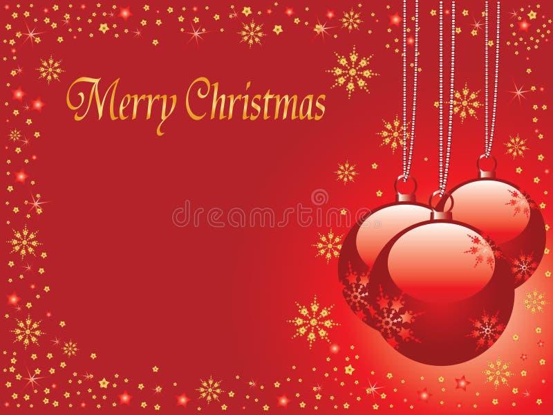 Christmas card. Christmas tree balls background illustration vector illustration