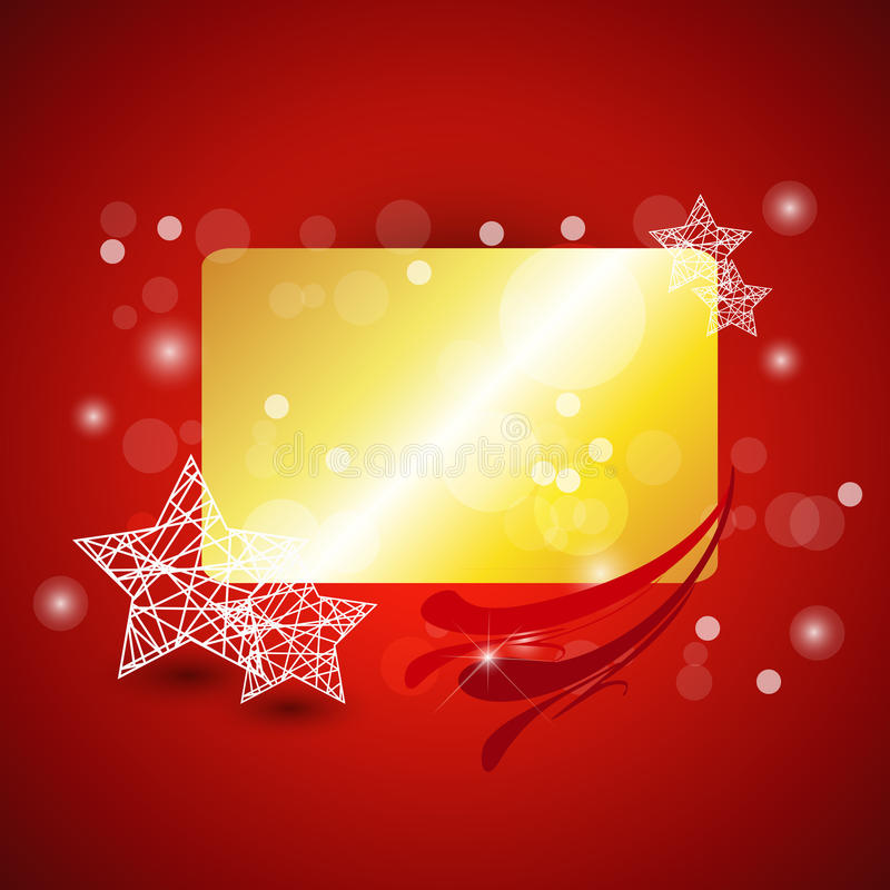Download Christmas Card stock vector. Illustration of gold, decorative - 21591531