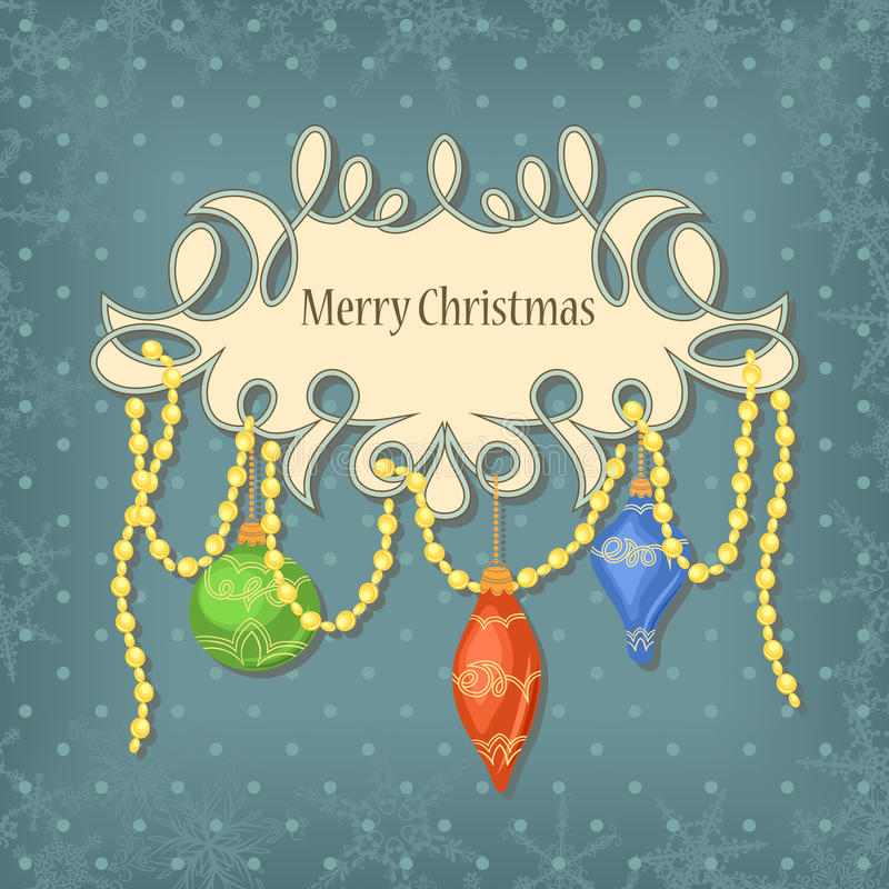 Download Christmas card stock vector. Illustration of paper, decor - 21607039