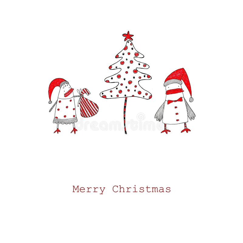 Download Christmas card stock illustration. Image of design, postcard - 21868837
