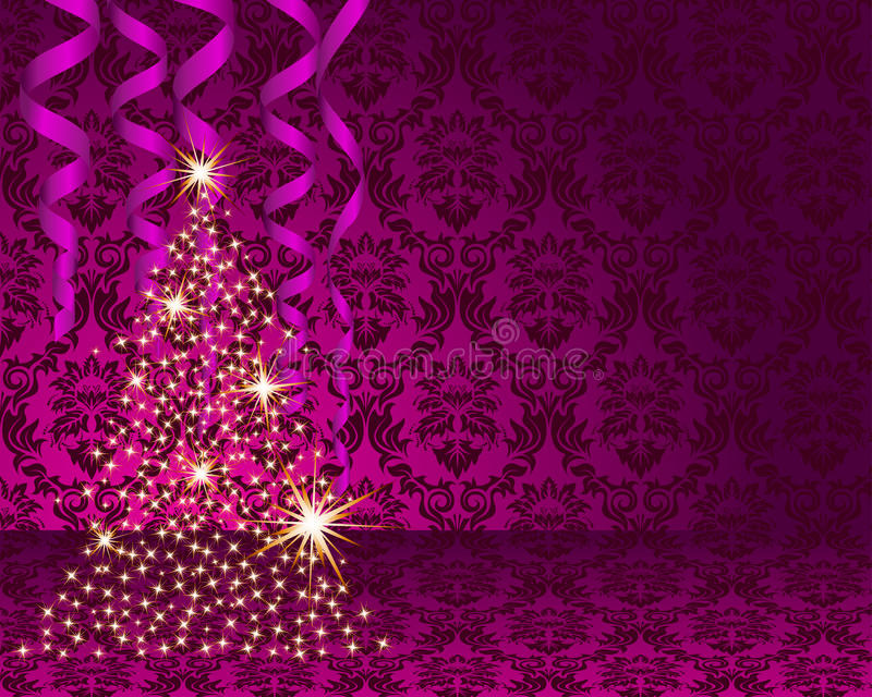 Christmas card. Beautiful Christmas (New Year) card. Vector illustration stock illustration
