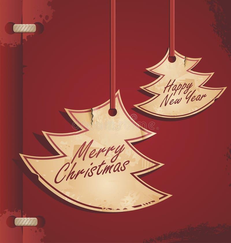 Download Christmas  card stock vector. Illustration of ribbon - 26975766