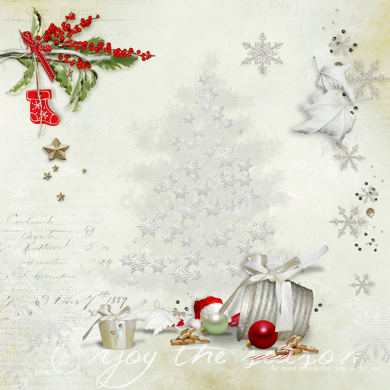 Download Christmas card stock illustration. Image of banner, thanksgiving - 27616234