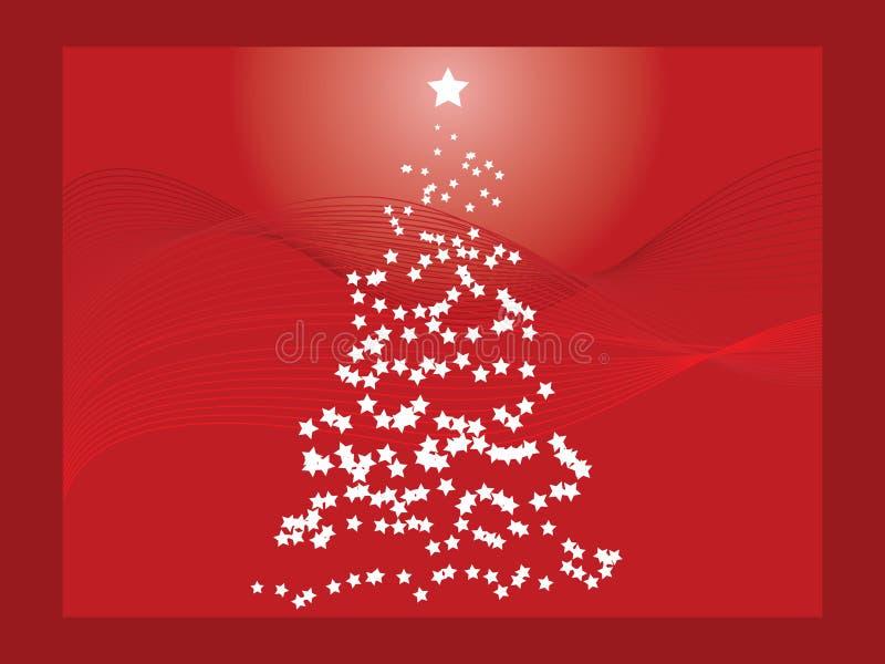 Red Christmas Tree stock illustration