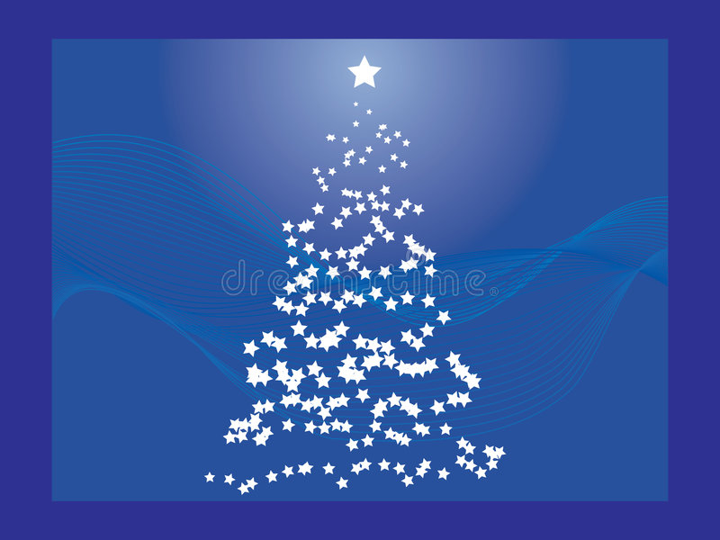 Download Blue Christmas Tree stock vector. Image of merry, card - 7026772