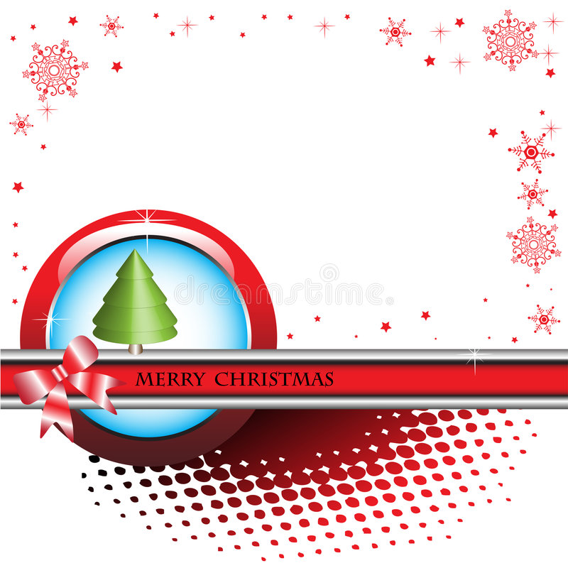 Download Christmas card stock vector. Image of dotted, banner, elegant - 7328910