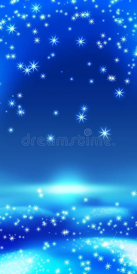 Christmas card. Blue background christmas and newyear eve card royalty free illustration